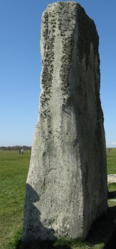 The only stones of comparable size in the Stonehenge Landscape are sarsens like this one at Stonehenge